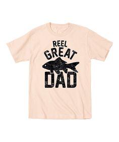 Sand 'Reel Great Dad' Tee - Men's Regular by LC Trendz #zulily #zulilyfinds