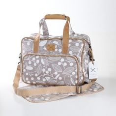 Nappy Bag & Changemat | CHATTER | White on Silver