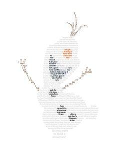 Olaf in Text Wall Art - Disney Art - Frozen Art -   In Summer