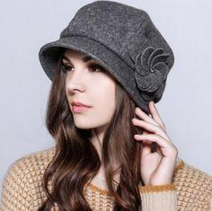 8613a70fec8 Flower beret hat for women autumn winter wool hats