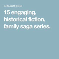 15 engaging, historical fiction, family saga series.