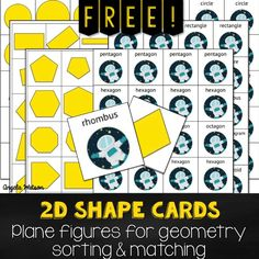 Geometry math partner games and a 2D shapes freebie | The Cornerstone