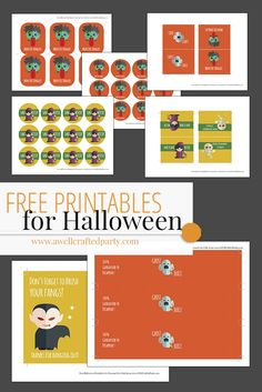 Kid-friendly Halloween free printables and tips on how to use them! Kid Friendly FREE Halloween Printables – A Well Crafted Party http://www.awellcraftedparty.com/2016/10/27/kid-friendly-free-halloween-printables/
