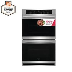 Cafe 30 in. Double Electric Wall Oven With Convection and Advantium Self Cleaning in Stainless Steel-CTC912P2NS1 - The Home Depot French Door Wall Oven, French Doors, Oven Cleaning, Steam Cleaning, Frying Oil, Air Frying, Single Wall Oven, Electric Wall Oven, Built In Microwave
