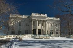 gilded age house in rhode island | ... House Mansion on Bellevue Ave., after snowfall. Newport, Rhode Island