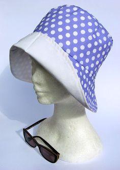 #Cappello da sole donna primavera/estivo lavanda a pois : Cappelli, berretti di janecolori