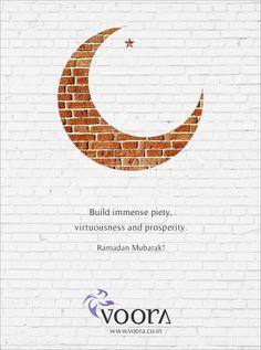 """Happy Ramzan - Team Voora - """"Elevating the art of fine living"""""""