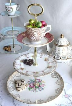3 Tier Cake / Cupcake Stand For desserts From Nancy's Tea Shop On Etsy