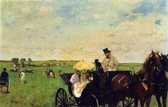 """A história da obra: Edgar Degas, """"A Carriage at the Races"""" – veja outras obras relacionadas http://designmuitomais.blogspot.com.br/2015/01/a-historia-da-obra-edgar-degas-carriage.html"""