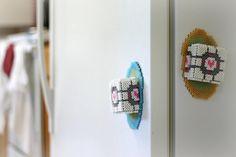 3D Portal Companion Cube Perler Bead Sprite Art Magnets- Glow in the Dark