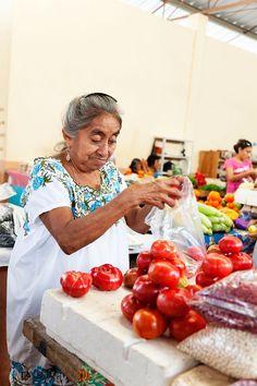 Mercado marchanta en Mérida, Yucatán México