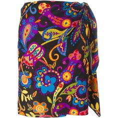 Moschino Vintage floral print skirt ($172) found on Polyvore featuring women's fashion, skirts, multicolor, vintage maxi skirt, colorful skirts, multi colored maxi skirt, floral skirt and long colorful skirts