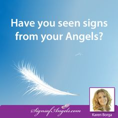 Have you seen signs from your Angels?