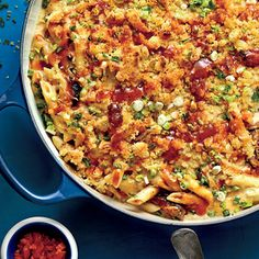 Barbecue Mac and Cheese | MyRecipes.com Undercook the pasta by 1 minute. It will continue to cook in the creamy sauce while the crumb topping toasts under the broiler.