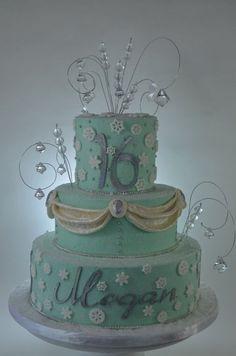 winter wonderland decorations for sweet 16   Winter Wonderland Sweet 16 Birthday - by cupadeecakes @ CakesDecor.com ...