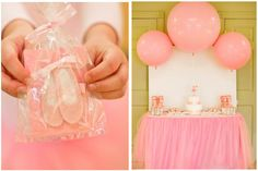 "I like the ""tutu table skirt"".  The original blog has some other ideas, too."
