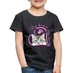 Mein Herz sagt miau Katze Kätzchen Geschenk | SpreadCats. Süßes Baby Kätzchen, Katze. Schönes Design für Katzenbesitzer, Katzen Freunde und Katzen Liebhaber. Tolles Geschenk für Katzenbesitzer. Mein Herz sagt miau.#katze #Kätzchen #katzenliebhaber #cat #cute Mens Tops, T Shirt, Fashion, Gifts For Cats, Great Gifts, Baby Kitty, Nice Designs, Friends, Heart