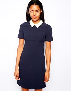 River Island Fitted Collar Dress