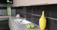 Caesarstone Nougat 6600 kitchen countertop. Visit globalgranite.com for more countertop options.
