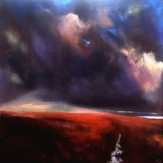 Dark Light #159 by John O' Grady,  Irish Landscape painting, Irish art, Ireland. For sale.