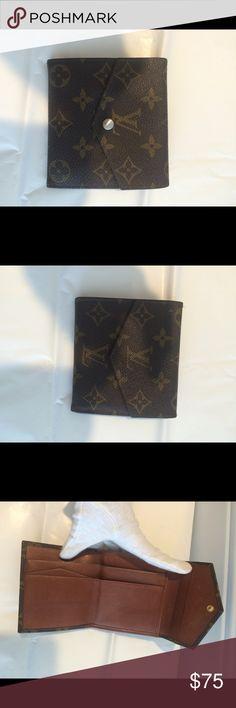 Authentic Louis Vuitton monogram wallet 100% authentic .vintage condition .no trades .we are a boutique on poshmark since 2013 Louis Vuitton Bags Wallets