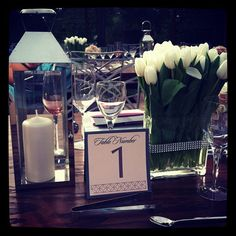 Modern Table Number by the Event Essentials