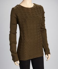 Take a look at this Olive Studded Sweater on zulily today!