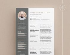 Resumes that help you make a great first impression! by KekeResumeBoutique Cv Template Word, Resume Templates, Cover Letter Design, Cv Cover Letter, Resume Cv, Resume Design, Resume Help, Microsoft Word, Design Typography
