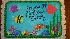 Tropical Fish Birthday Cake by Sweet Nothings Bakery - https://www.facebook.com/TinasSweetNothings