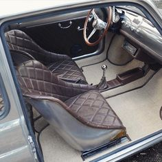 Fiat 500 Fiat 600, Mini Cooper Classic, Classic Mini, Classic Cars, Fiat 500 Lounge, Automotive Upholstery, Fiat Abarth, Car Mods, Small Cars