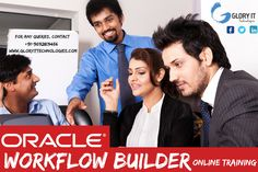 Glory IT Technologies is providing Oracle Workflow Builder online training by certified working professionals. Oracle workflow is used for the business process collaborations across two or more applications. Oracle workflow training enables modeling, automation, and continuous improvement of business process, routing information of any type according to user-defined business rules using workflow solution.