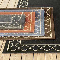 Suzanne Kasler Quatrefoil Border Indoor/Outdoor Rug (patio)