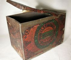 Large Antique Huntley and Palmer's Biscuit Tin  Paper by component, $19.00