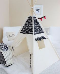 Arrows Bekko Natural Canvas Play Tent Teepee by AshleyGabby Diy Teepee, Teepee Play Tent, Teepees, Teepee Party, Boy Room, Kids Room, Canvas Teepee, Kids Tents, Play Houses