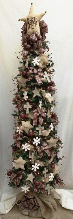 Primitive Star Christmas Tree via BenFranklin