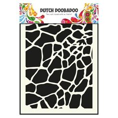 Pochoir Mask Dutch Doobadoo motif fond girage