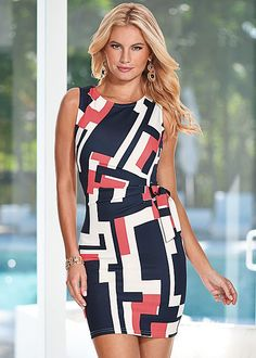 From the office and beyond...Venus faux wrap dress.