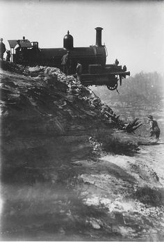 Derailment on the Zig Zag railway by State Records NSW, via Flickr date 4/4/1901