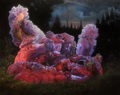 Adrian Cox is a Missouri-based painter known for his beautifully grotesque creations that he refers to as Border Creatures; organic beings caught in a state of perpetual metamorphosis, hybridizing with.View More → Surrealism Painting, Pop Surrealism, Art Actuel, Canadian Art, Fantasy Landscape, Magazine Art, Best Artist, Optical Illusions, Contemporary Paintings