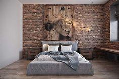 Дизайн проект спальни в стиле лофт