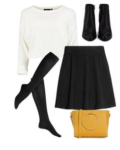 """""""#230"""" by mintgreenb on Polyvore featuring H&M, Falke and Alexander Wang"""