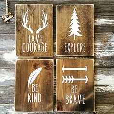 Perfect for the woodland nursery or children's room decor! Each sign is roughly 8x10 (+/-) NOTE: All signs are hand-cut and size will vary slightly, and ...