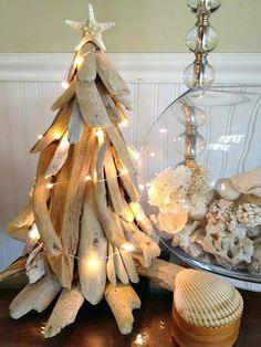 Completely Coastal: Coastal Mini Christmas Trees & Table Top Trees