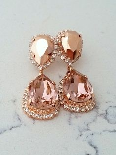 Bridal Jewelry - Blush Earrings