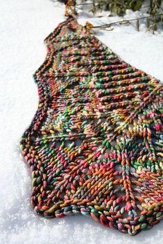 Acer Shawl by Kourtney Robinson | malabrigo Rasta in Arco Iris