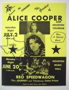 Alice Cooper, REO Speedwagon - Jul 2, 1977 at Sam Houston Coliseum