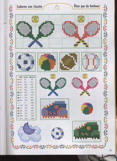 Sport hama perler beads pattern