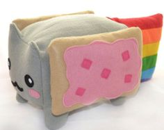 Nyan Cat BIG Kawaii Plush Toy - Loaf Shape , Cube / Pillow / Cushion / Geekery Rainbow Pop Tart Kawaii ~ $65.57~ I'd make him into a tissue box holder instead though.