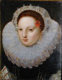 Attribué à François Clouet, Portrait de femme: huile sur bois
