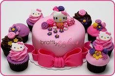 Hello Kitty Baby Shower Cupcakes & Cake!